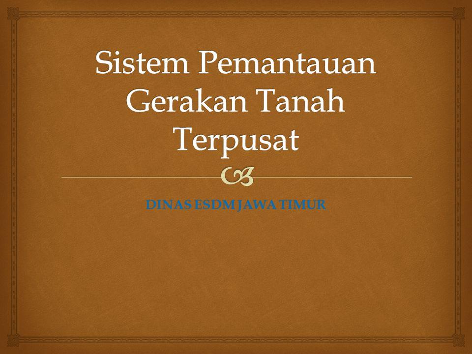   sistem pemantauan terpusat untuk tanah longsor di Indonesia masih sangat minim  Hampir semua sistem pemantauan pergerakan tanah hanya berfungsi sebagai EWS (Early Warning System) saja, atau hanya sebagai alat akuisisi data saja, bukan sekaligus sebagai alat pantau penginderaan jauh.
