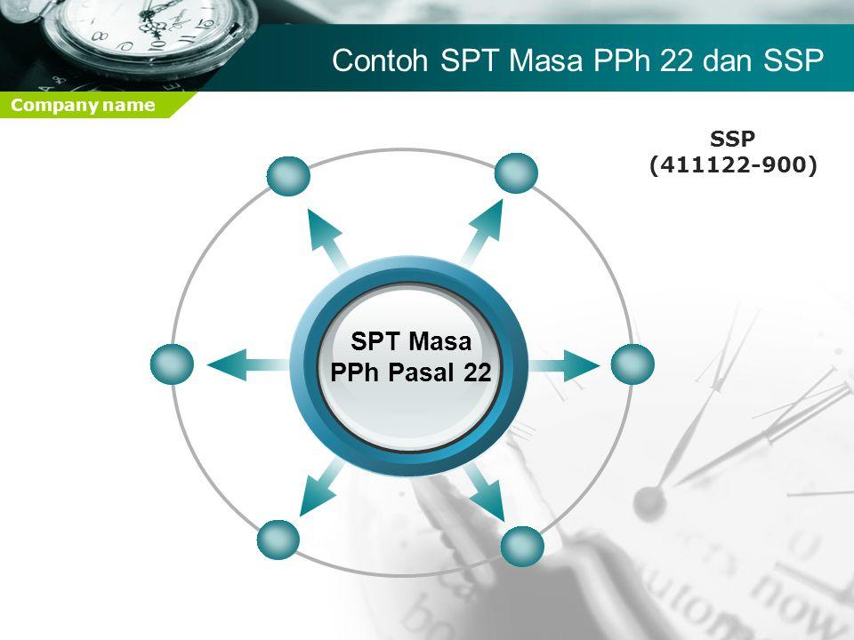 Company name SPT Masa PPh Pasal 22 Contoh SPT Masa PPh 22 dan SSP SSP (411122-900)