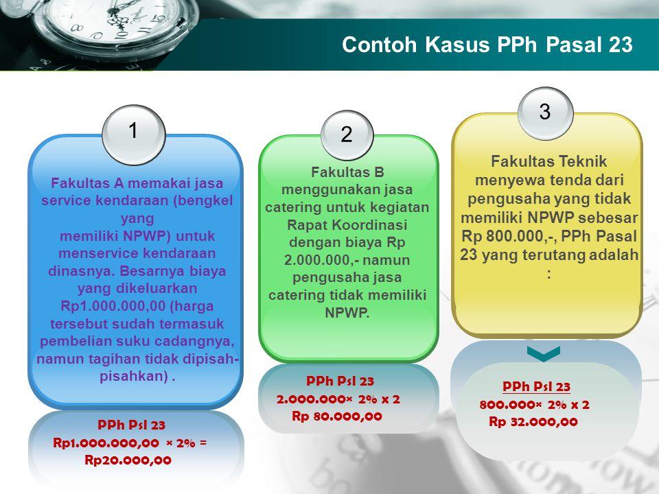Company name 1 2 Fakultas B menggunakan jasa catering untuk kegiatan Rapat Koordinasi dengan biaya Rp 2.000.000,- namun pengusaha jasa catering tidak