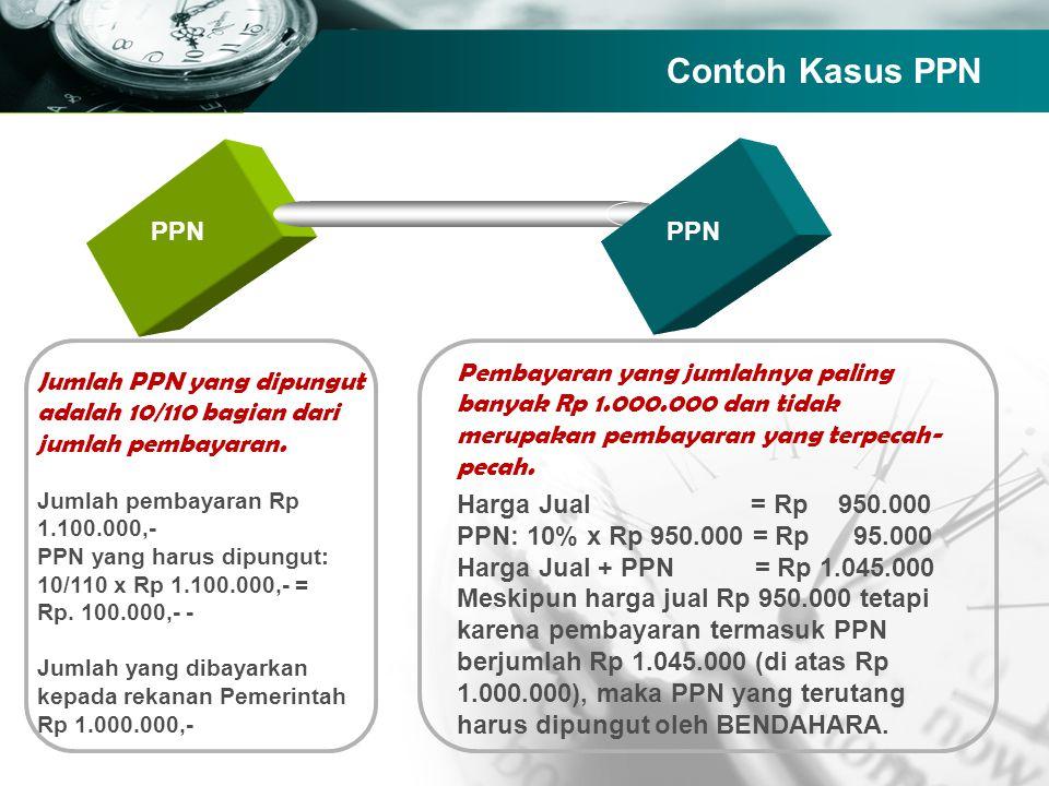 Company name TEXT PPN Jumlah PPN yang dipungut adalah 10/110 bagian dari jumlah pembayaran. Jumlah pembayaran Rp 1.100.000,- PPN yang harus dipungut: