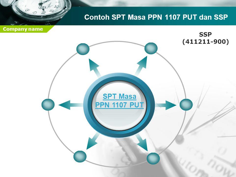 Company name SPT Masa PPN 1107 PUT Contoh SPT Masa PPN 1107 PUT dan SSP SSP (411211-900)