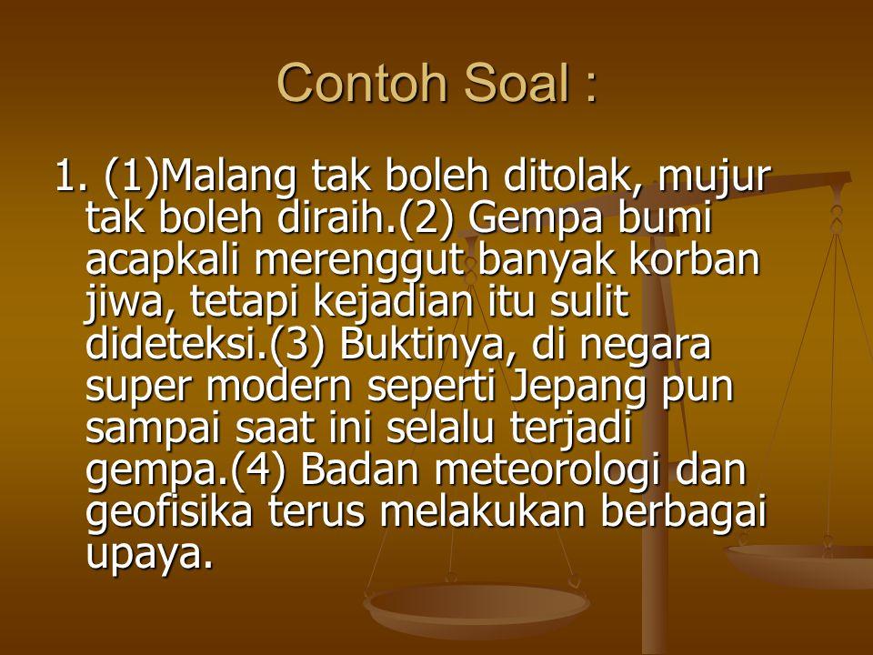 Contoh Soal : 1.