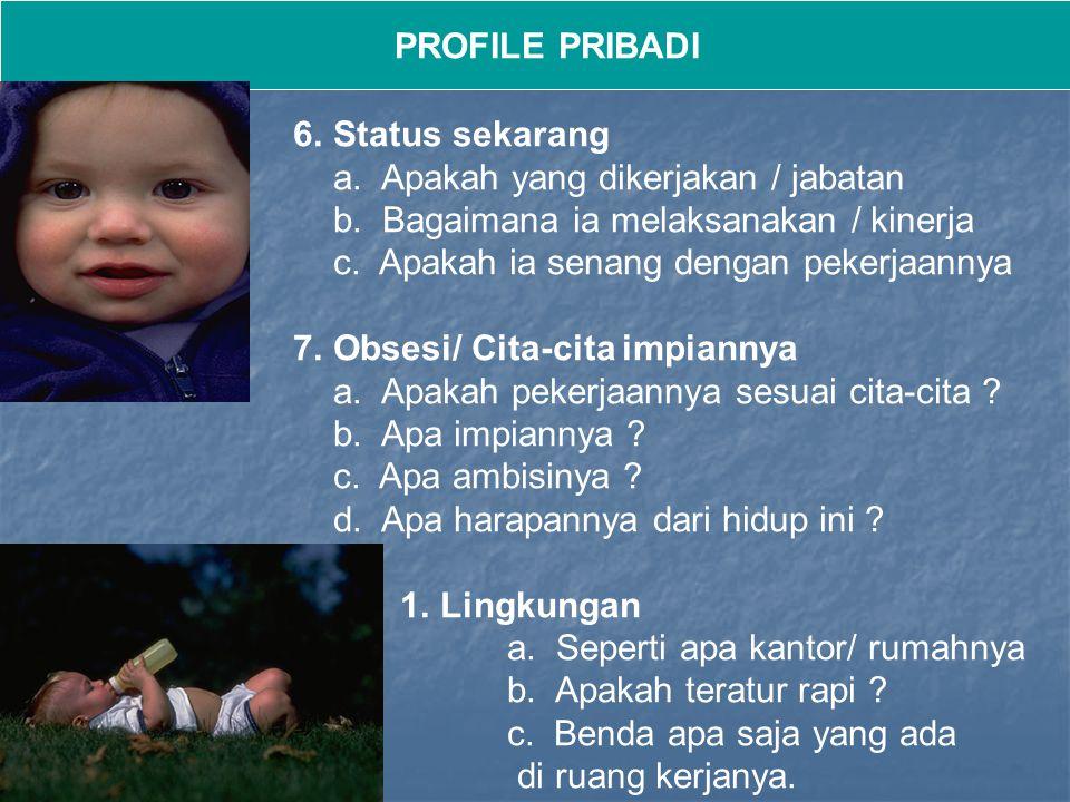 PROFILE PRIBADI 3.Penilaian terhadap kecerdasan dan kecakapan.