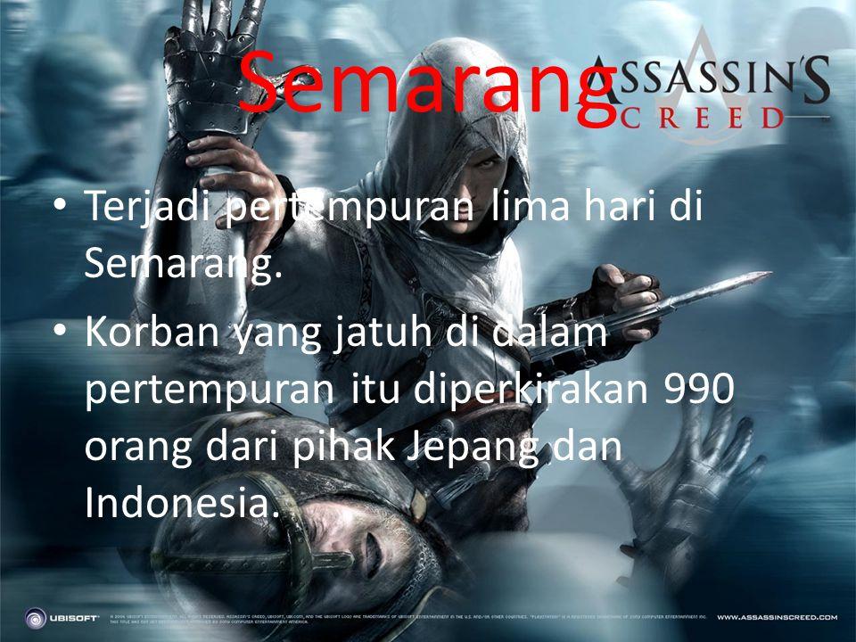 Yogyakarta • Tanggal 26 September 1945 semua pegawai instansi pemerintah dan perusahaan yang dikuasai oleh Jepang mengadakan aksi pemogokan. • Pada ta