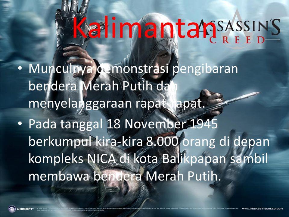 Sulawesi Selatan • Pada tanggal 28 Oktober 1945 kelompok Barisan Berani Mati telah bergerak menuju sasaran dan juga melakukan pendudukan. • Perjuangan
