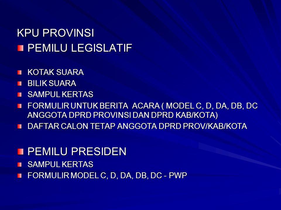 JENIS SAMPUL & PERUNTUKANNYA PPS 1 SAMPUL IV S1.– DPR U/ B.A.