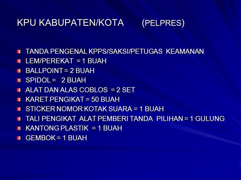 Rumus Perhitungan SAMPUL U/ PEMILU LEGISLATIF 1 KPU PROVINSI ( I.S.