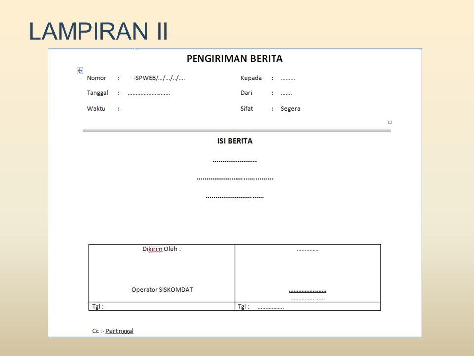 LAMPIRAN II