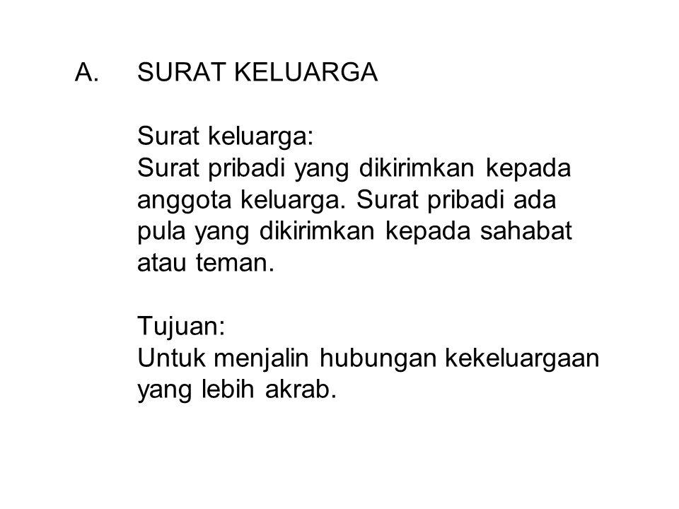 3.Pak Asep bekerja di Jakarta, tetapi istri dan kedua anaknya, Feri dan Wawan, tinggal di Majalengka, Jawa Barat.