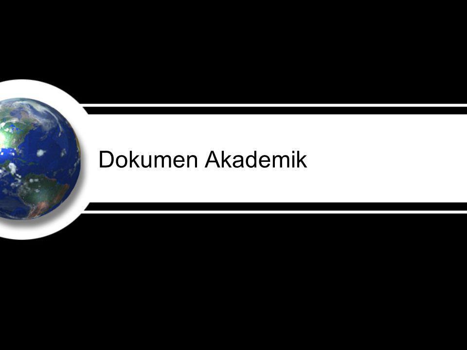 Dokumen Akademik