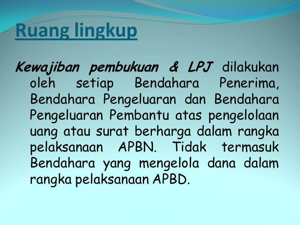 LPJ BPP atas dana UP menkredit BKU, BP BPP dan BP UP serta pengurang pagu pada Buku Pengawasan Anggaran.