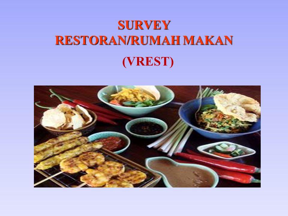 SURVEY RESTORAN/RUMAH MAKAN (VREST)