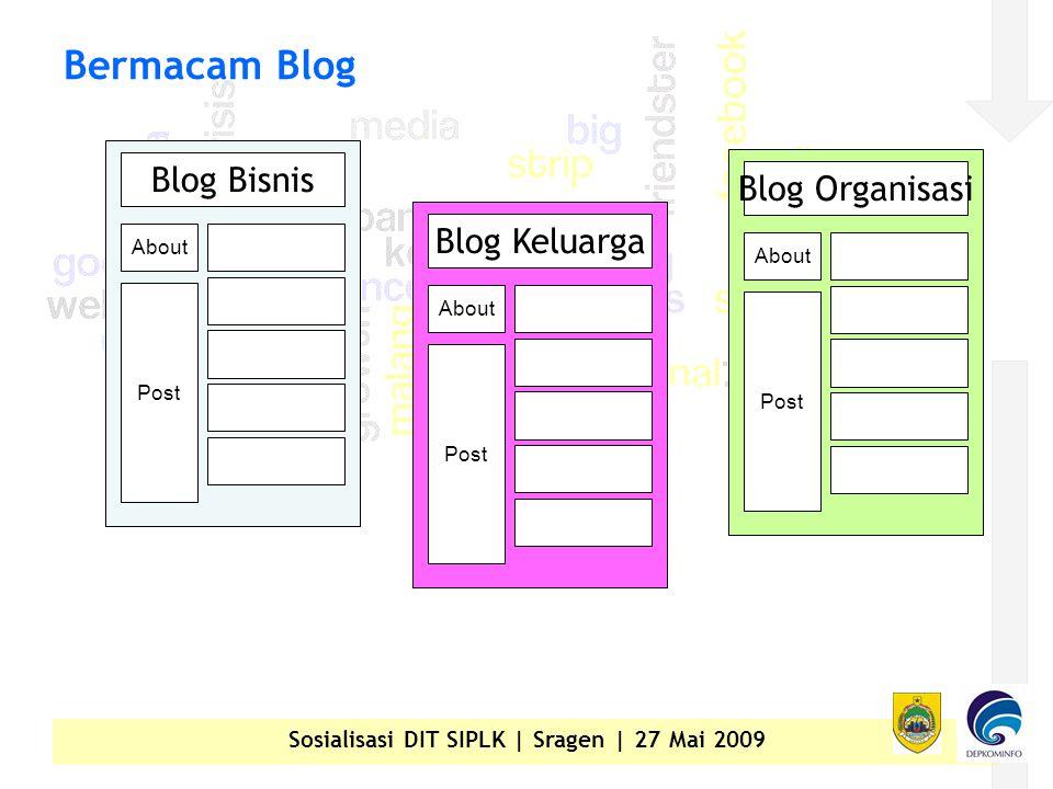 Sosialisasi DIT SIPLK | Sragen | 27 Mai 2009 Bermacam Blog Blog Bisnis About Post Blog Keluarga About Post Blog Organisasi About Post