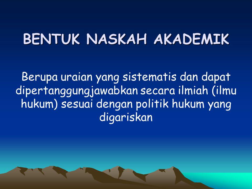 DASAR HUKUM 1.Peraturan Presiden Nomor 68 Tahun 2004 tentang Tata Cara mempersiapkan Rancangan Undang-Undang, Rancangan Peraturan Pengganti Undang-Und