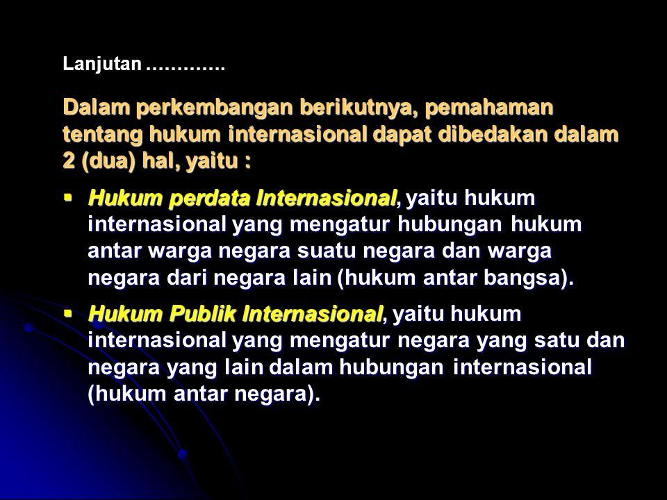 Beberapa istilah penting yang berhubungan dengan upaya-upaya penyelesaian Internasional.