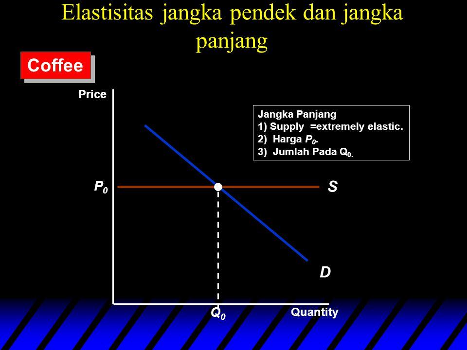 D S P0P0 Q0Q0 Jangka Panjang 1) Supply =extremely elastic.