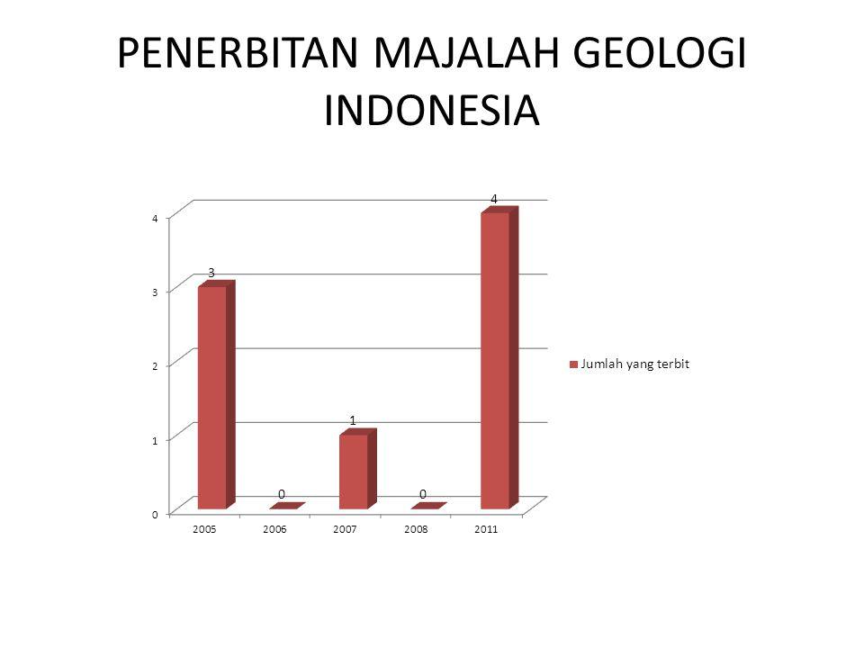 PENERBITAN MAJALAH GEOLOGI INDONESIA
