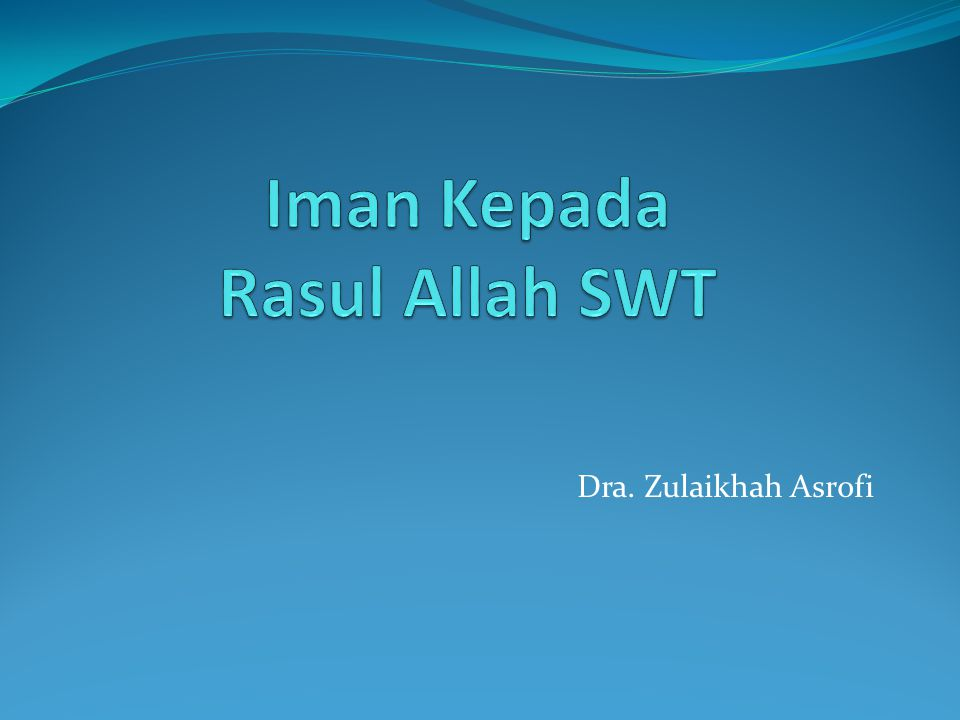 Dra. Zulaikhah Asrofi