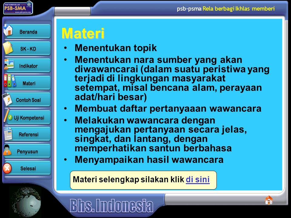 psb-psma Rela berbagi Ikhlas memberi Tips Memilih Jenis Pertanyaan 3.