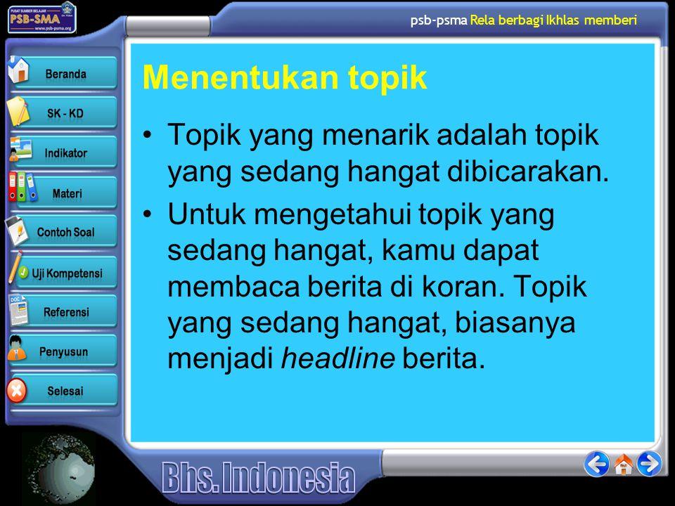 psb-psma Rela berbagi Ikhlas memberi Tips Memilih Jenis Pertanyaan 6.
