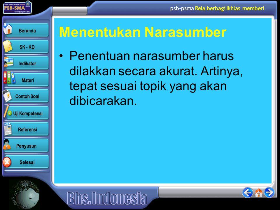psb-psma Rela berbagi Ikhlas memberi Tips Memilih Jenis Pertanyaan 7.