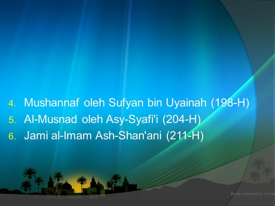 Kodifikasi Hadis  Pembukuan hadis dalam bentuk mushaf terjadi pada masa pemerintahan Umar bin Abdul Aziz.