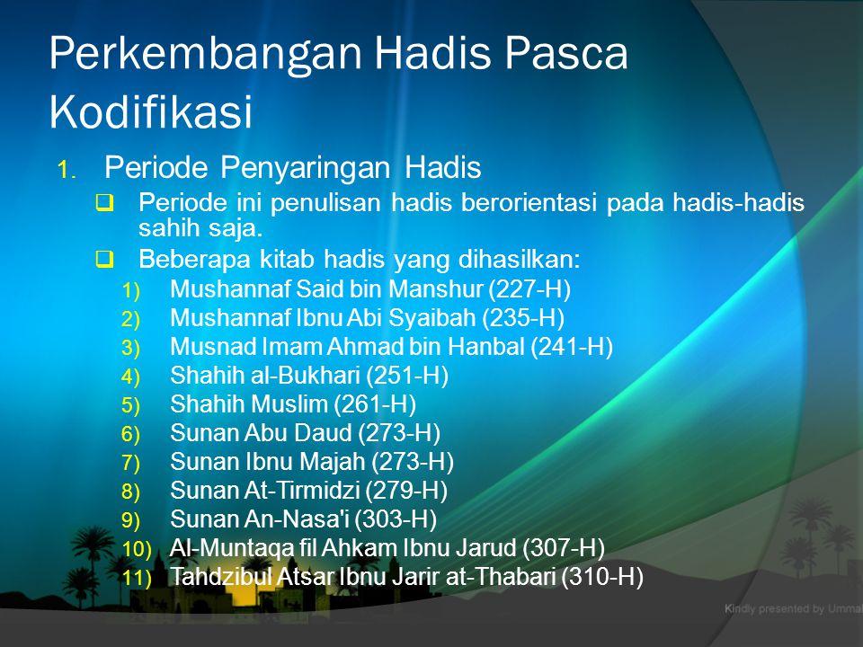  Beberapa kitab yang dihasilkan; 1.Shahih Ibnu Khuzaimah (311-H) 2.