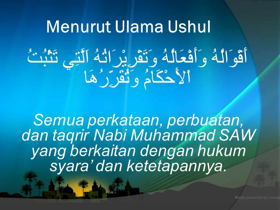 K EDUDUKAN R ASULULLAH S.A. W.