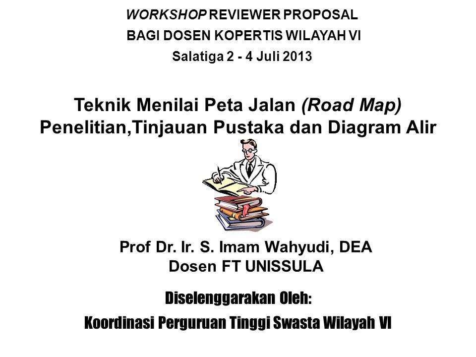Teknik Menilai Peta Jalan (Road Map) Penelitian,Tinjauan Pustaka dan Diagram Alir Prof Dr.