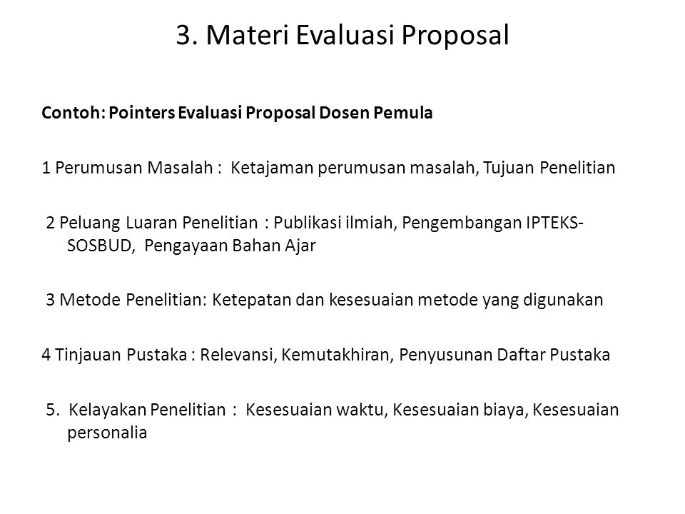 2.Pemahaman Proses Review Proposal • a.