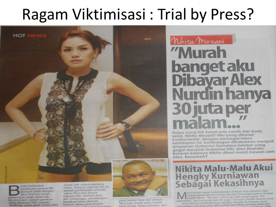 Ragam Viktimisasi : Trial by Press?