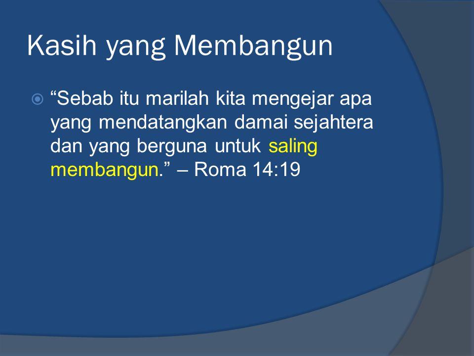 Kasih yang Menghibur  Setiap orang di antara kita harus mencari kesenangan sesama kita demi kebaikannya untuk membangunnya. – Roma 15:2  Semoga Allah, yang adalah sumber ketekunan dan penghiburan, mengaruniakan kerukunan kepada kamu, sesuai dengan kehendak Kristus Yesus,… – Roma 15:5 www.beritakanfirman.com