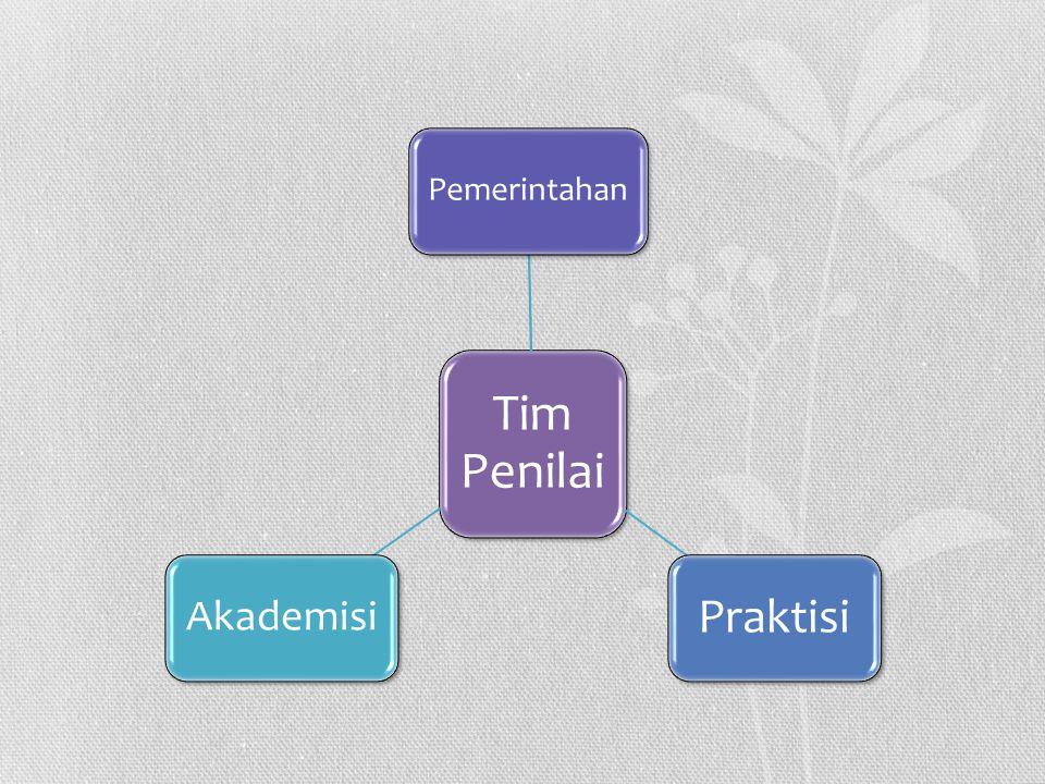Tim Penilai Pemerintahan Praktisi Akademisi