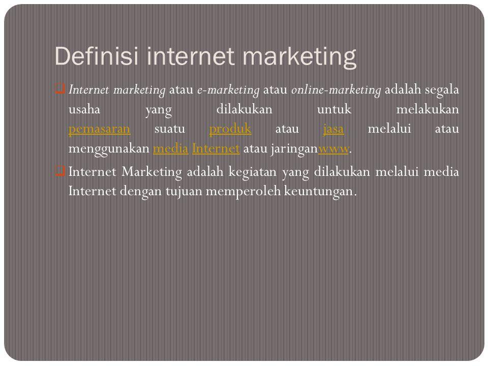 Email pemasaran  secara langsung pemasaran pesan komersial untuk sekelompok orang yang menggunakan email.