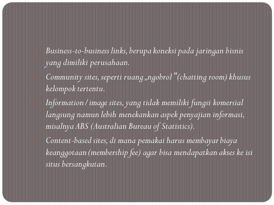 Fungsi web dalam pemasaran  sebuah web mempengaruhi pengembangan dan keputusan dalam strategi pemasaran Jurnal Manajemen terutama marketing mix (analisis 4C dan 4P).