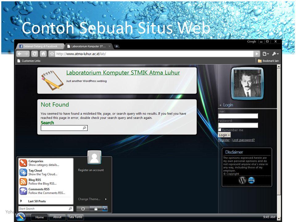 Contoh Sebuah Situs Web Desain Web (3 SKS) Genap 2010/2011Yohanes Setiawan, S.Kom16