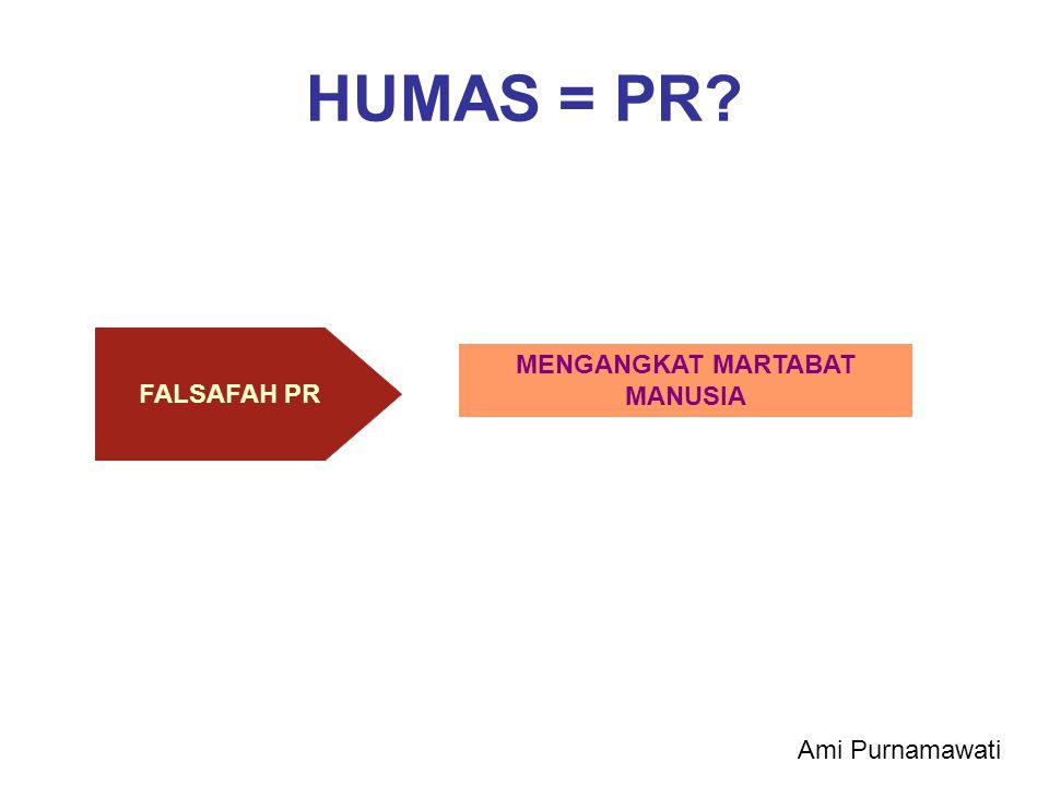 HUMAS = PR? MENGANGKAT MARTABAT MANUSIA FALSAFAH PR Ami Purnamawati