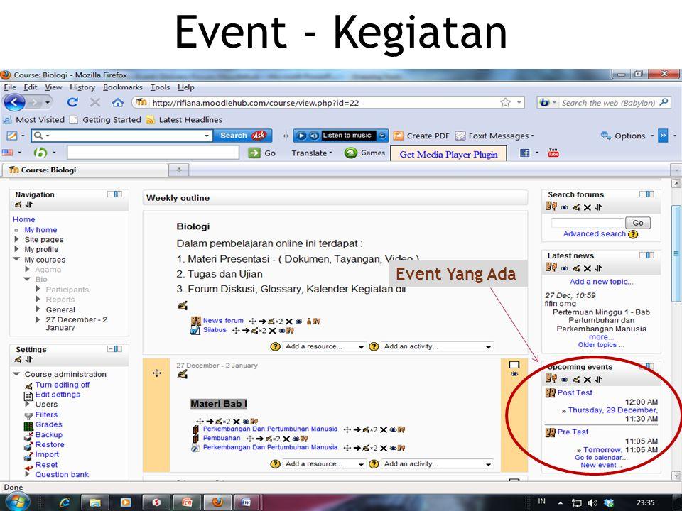 Event - Kegiatan Event Yang Ada