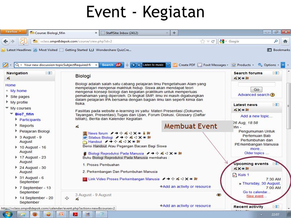 Event - Kegiatan Membuat Event