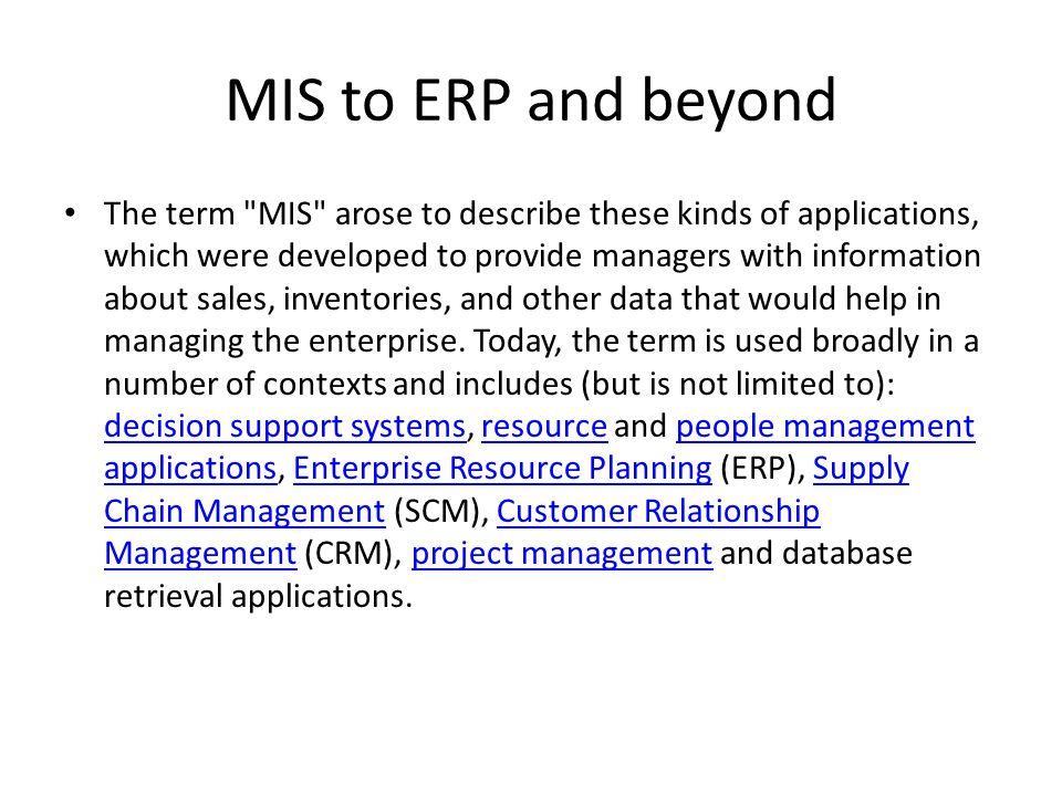 MIS References • [1] http://www.occ.treas.gov/handbook/mis.pdf ^ [1] http://www.occ.treas.gov/handbook/mis.pdf • [2] O'Brien, J (1999).