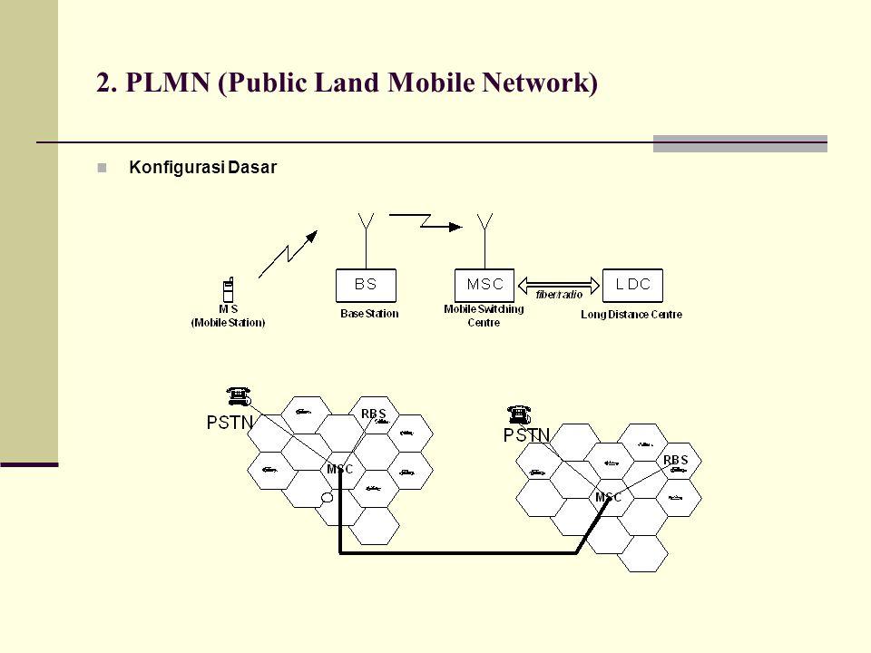 2. PLMN (Public Land Mobile Network)  Konfigurasi Dasar