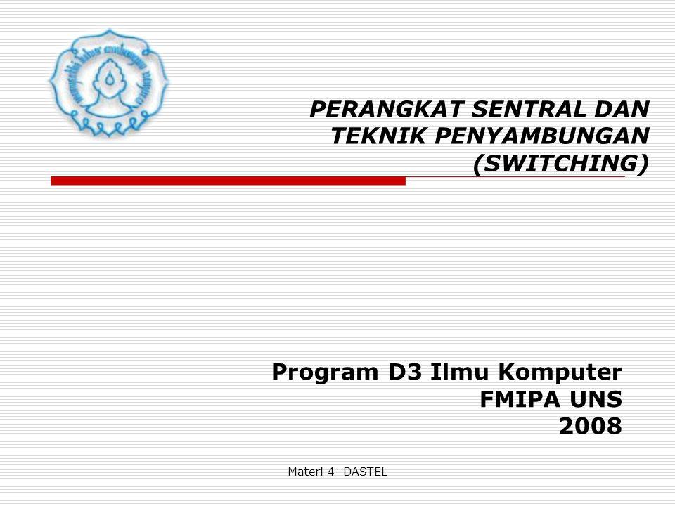 Materi 4 -DASTEL Sistem Signaling adalah sistem komunikasi antara : * pelanggan dengan sentral.