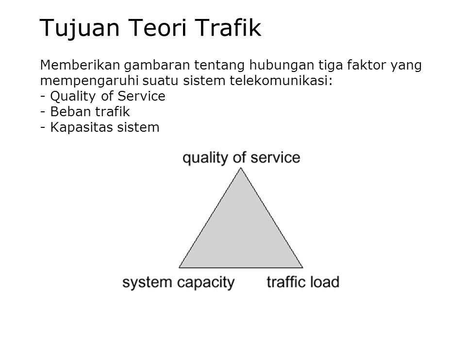•Trafik dibangkitkan oleh pengguna sistem •Sistem melayani (mengolah) trafik yang masuk •Trafik dapat berupa panggilan yang harus disambungkan pada ja