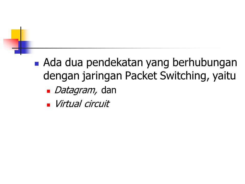  Ada dua pendekatan yang berhubungan dengan jaringan Packet Switching, yaitu  Datagram, dan  Virtual circuit