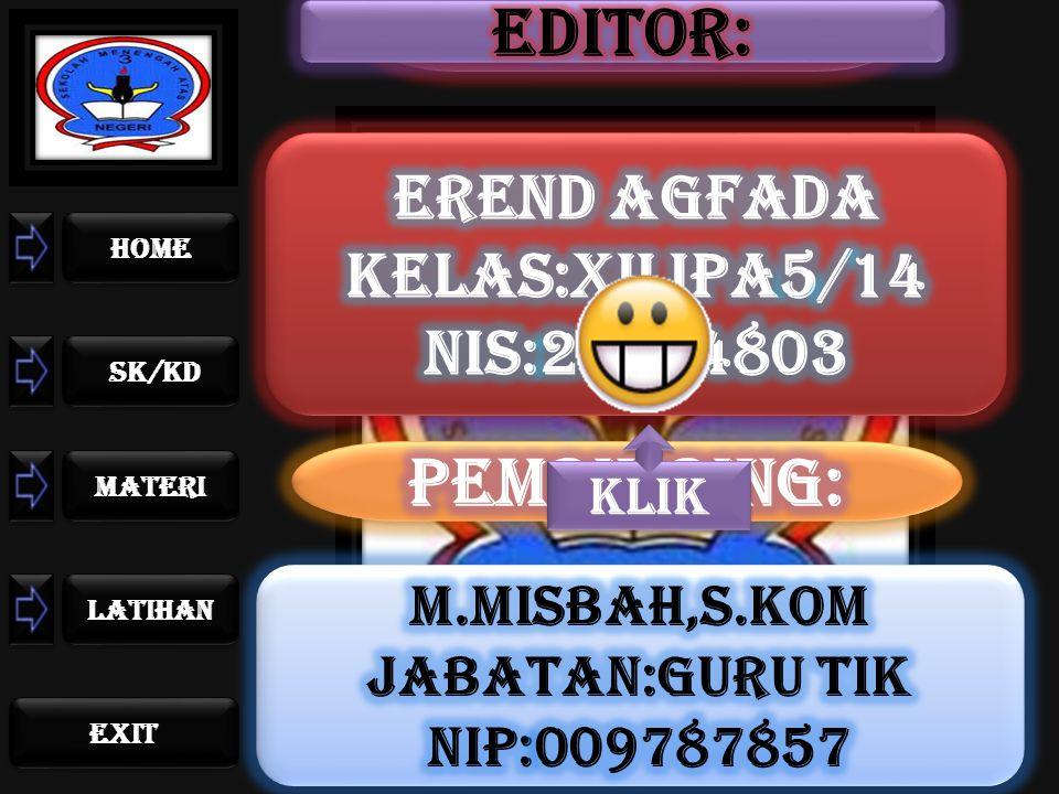 home sk/kd materi LATIHAN exit