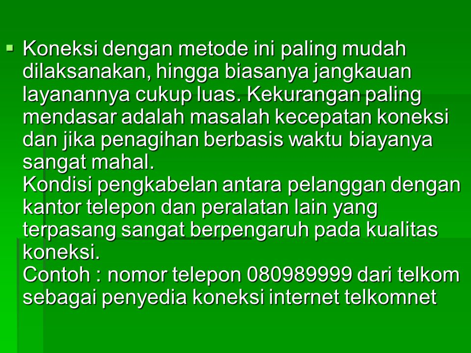 f) Pilih Connect to the Internet