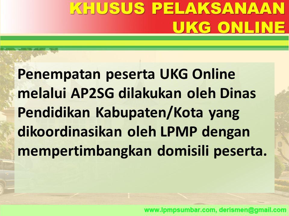 UJI COBA SISTEM ONLINE DI TUK Uji coba ini bertujuan untuk memastikan kesiapan teknis baik dari system maupun tempat UKG untuk pelaksanaan UKG online.