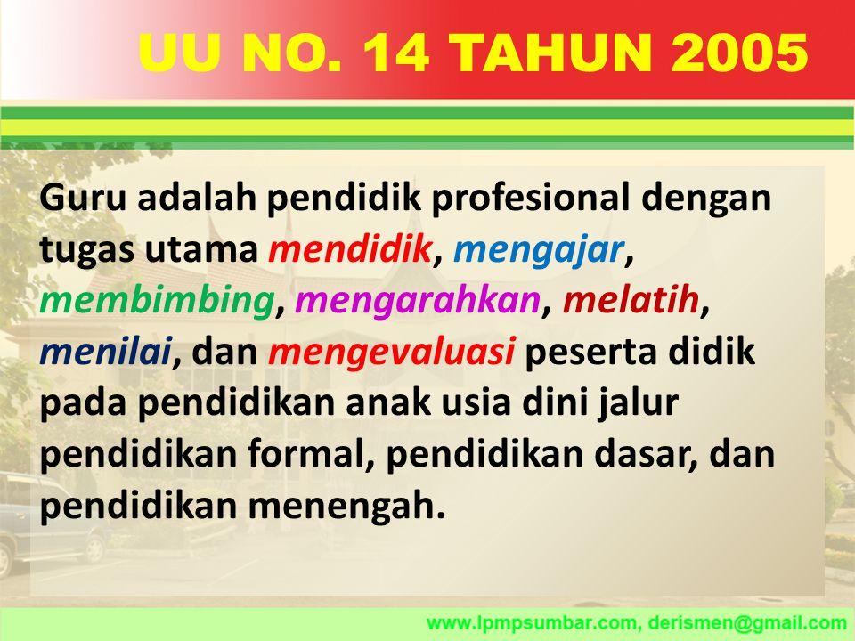 Guru mempunyai kedudukan sebagai tenaga profesional.