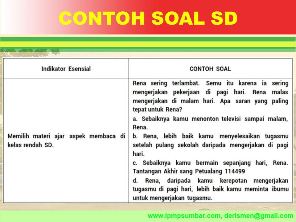 CONTOH SOAL SD