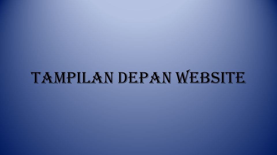 Tampilan Depan Website